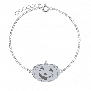 Bracelet Halloween Pumpkin gold-plated rhodium-plated silver