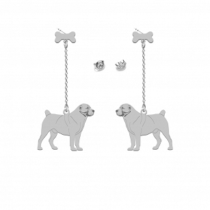 Earrings Central Asian Shepherd Dog (Asian) Gold-plated rhodium-plated silver FREE ENGRAVING