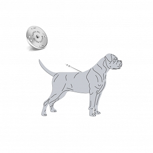 Pin Cane Corso silver rhodium plated or gold-plated - MEJK Jewelery