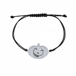 Bracelet Halloween Pumpkin gold-plated rhodium-plated silver twine
