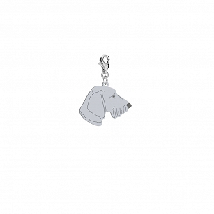 Charms Wirehaired Dachshund silver rhodium-plated gold-plated ENGRAVING FREE  - MEJK Jewellery