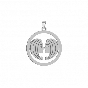 Pendant Zodiac sign GEMINI gold-plated rhodium-plated silver FREE ENGRAVING