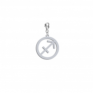 Charms Zodiac Sign Sagittarius, rhodium-plated or gold-plated