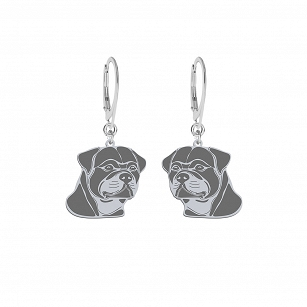 Earrings Rottweiler silver rhodium-plated gold-plated ENGRAVING FREE - MEJK Jewellery