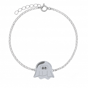 Bracelet Halloween Ghost gold-plated rhodium-plated silver