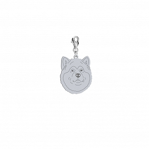 Charms Alaskan Malamute gold-plated rhodium-plated silver FREE ENGRAVING