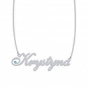 Necklace KRYSTYNA SWAROVSKI in rhodium-plated or gold-plated silver