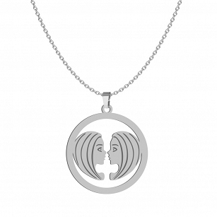 Necklace Zodiac sign GEMINI gold-plated rhodium-plated silver FREE ENGRAVING