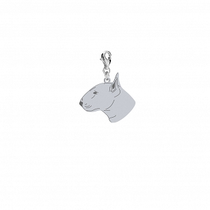 Charms Bulterier Standard rhodium-plated silver gold-plated FREE ENGRAVING