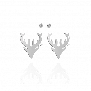 Earrings DEER gold-plated rhodium-plated silver