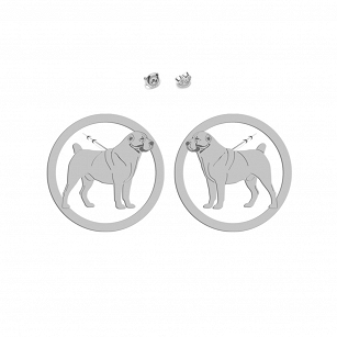 Earrings Central Asian Shepherd (Asian) Gold-plated rhodium-plated silver