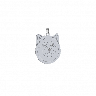 Pendant Alaskan Malamute gold-plated or rhodium-plated silver FREE ENGRAVING