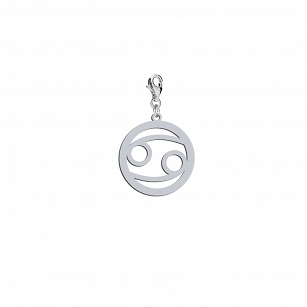 Charms Zodiac sign Cancer in rhodium-plated or gold-plated silver