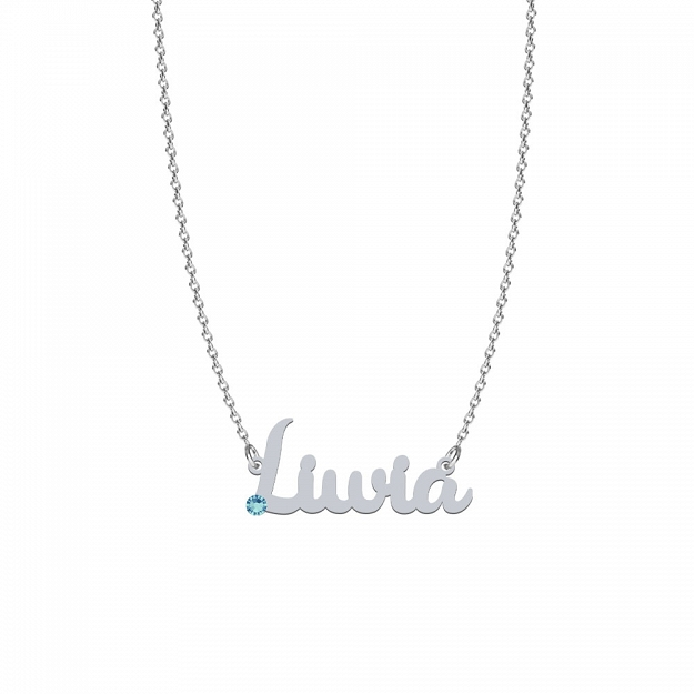LIWIA SWAROVSKI necklace in rhodium-plated or gold-plated silver