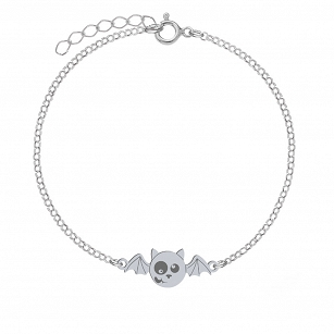 Bracelet Halloween Bat gold-plated rhodium-plated silver