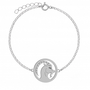 Bracelet Zodiac sign CAPRICORN gold-plated rhodium-plated silver FREE ENGRAVING
