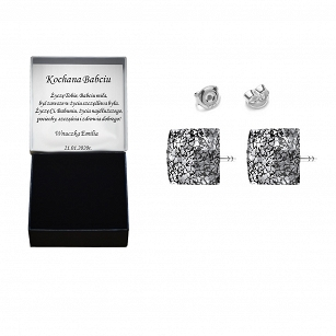 SWAROVSKI earrings with Swarovski crystals - rhodium-plated silver