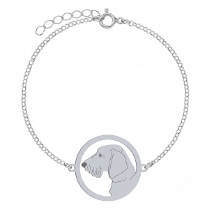 Bracelet Wirehaired Dachshund silver rhodium-plated gold-plated ENGRAVING FREE- MEJK Jewellery