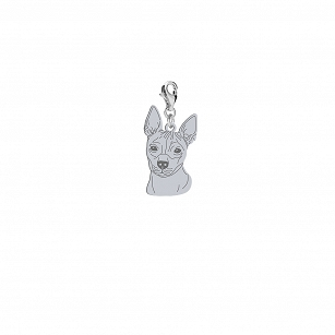 Charms American hairless terrier (AHT) silver rhodium plated or gold-plated ENGRAVING FOR FREE - MEJK Jewelery