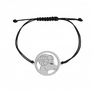 Bracelet Zodiac sign ARIES gold-plated rhodium-plated silver twine FREE ENGRAVING