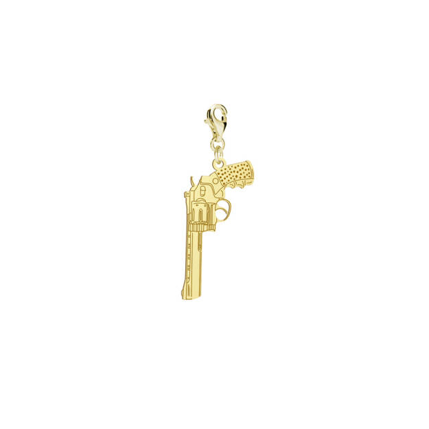 Charms REVOLVER gold-plated rhodium-plated silver FREE ENGRAVING