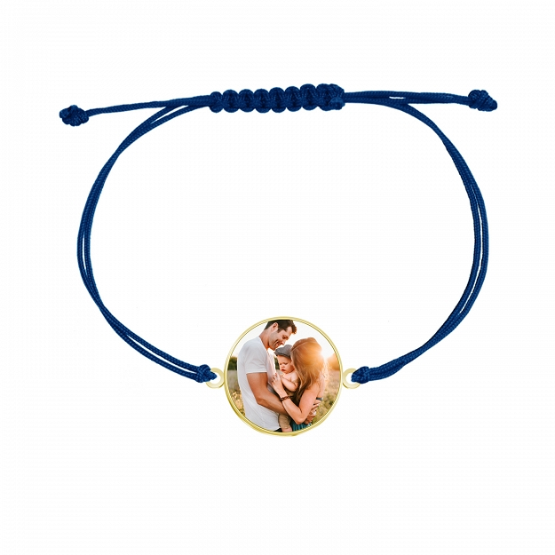 Bracelet with a photo Personalization gold-plated silver ENGRAVING FREE