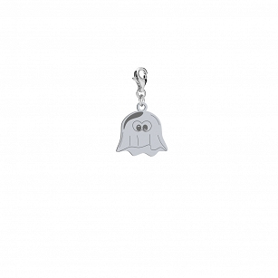 Charms Halloween Ghost gold-plated rhodium-plated silver