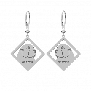 Earrings Central Asian Shepherd Dog (Asian) FREE ENGRAVING