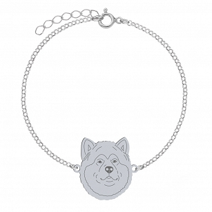 Bracelet Alaskan Malamute gold-plated rhodium-plated silver FREE ENGRAVING