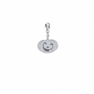 Charms Halloween Pumpkin gold-plated rhodium-plated silver