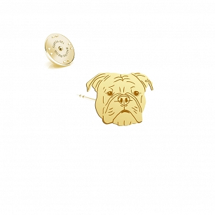 Pin Bulldog Continental  gold-plated rhodium-plated silver
