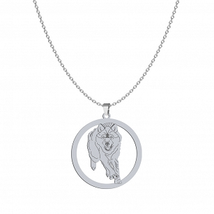 WOLK Silver rhodium plated gold-plated necklace FREE ENGRAVING- MEJK Jewellery
