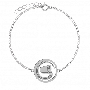 Bracelet Zodiac sign AQUARIUS gold-plated rhodium-plated silver FREE ENGRAVING