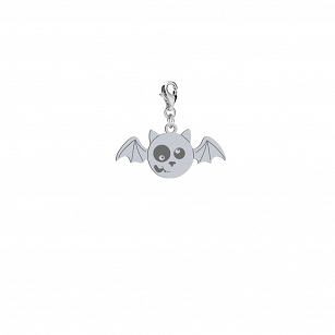 Charms Halloween Bat gold-plated rhodium-plated silver