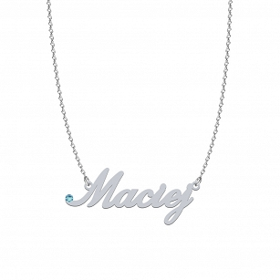 MACIEJ SWAROVSKI necklace in rhodium-plated or gold-plated silver