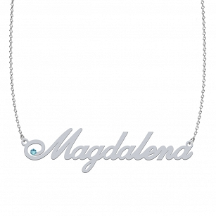 MAGDALENA SWAROVSKI necklace made of rhodium-plated or gold-plated silver