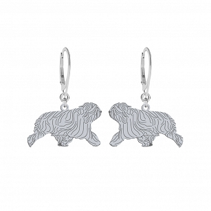 Earrings Polish Lowland Sheepdog silver rhodium-plated gold-plated ENGRAVING FREE - MEJK Jewellery