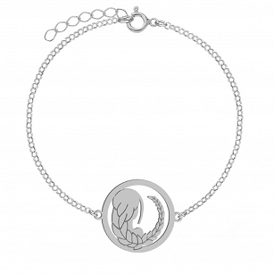 Bracelet Zodiac sign VIRGO gold-plated rhodium-plated silver FREE ENGRAVING