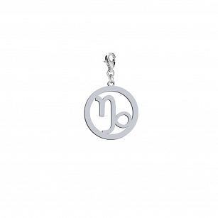 Charms Zodiac sign CAPRICORN - rhodium-plated or gold-plated silver