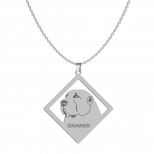 Necklace Central Asian Shepherd Dog (Asian) FREE ENGRAVING