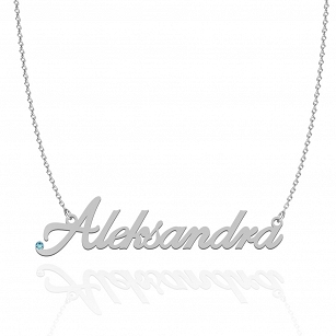 ALEKSANDRA SWAROVSKI necklace in rhodium-plated or gold-plated silver