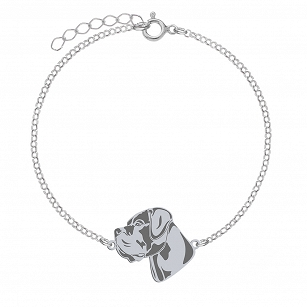 Bracelet Cane Corso silver rhodium plated or gold-plated FREE ENGRAVING - MEJK Jewelery
