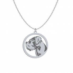 Necklace Cane Corso silver rhodium plated or gold-plated FREE ENGRAVING - MEJK Jewelery