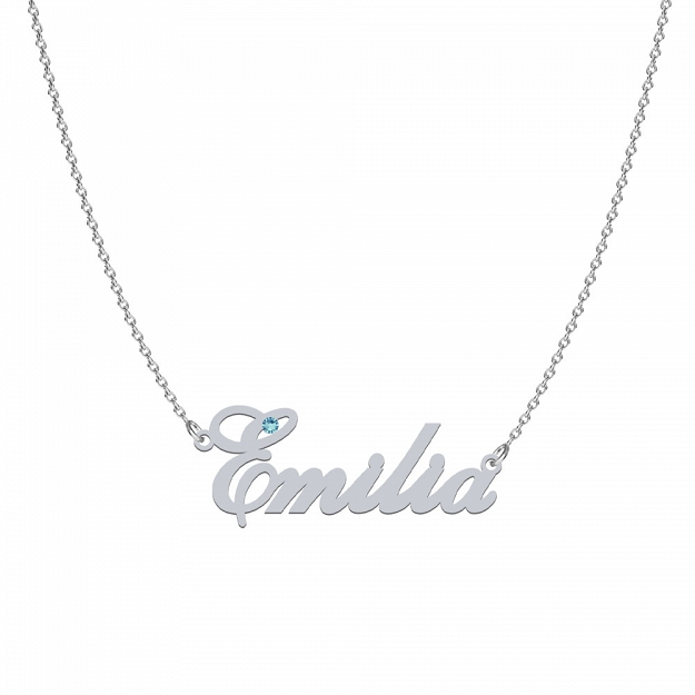 Necklace EMILIA SWAROVSKI in rhodium-plated or gold-plated silver