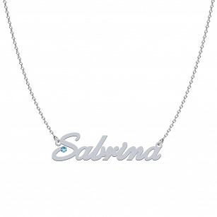 SABRINA SWAROVSKI necklace in rhodium or gold-plated silver