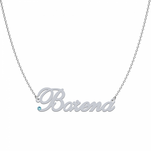 BOŻENA SWAROVSKI necklace in rhodium-plated or gold-plated silver