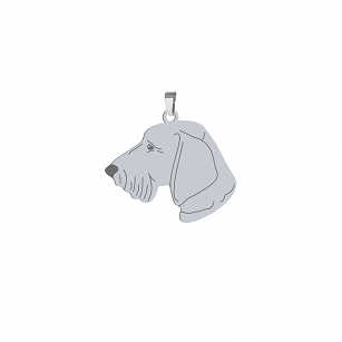 Pendant Wirehaired Dachshund silver rhodium plated gold plated ENGRAVING FREE - MEJK Jewellery