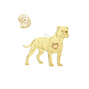 Pin Bulldog Continental SWAROVSKI heart