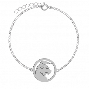 Bracelet Zodiac sign TAURUS gold-plated rhodium-plated silver FREE ENGRAVING