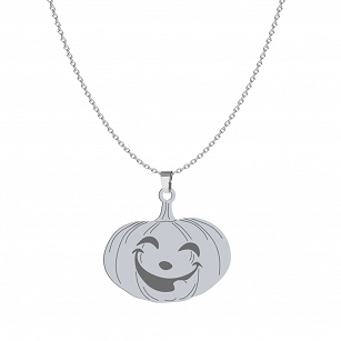 Necklace Halloween Pumpkin gold-plated rhodium-plated silver